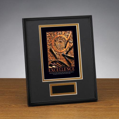 Excellence Wood Carving Framed Award