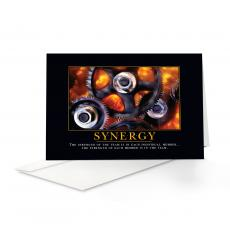 Motivational Cards - Synergy Gears 25-Pack Greeting Cards