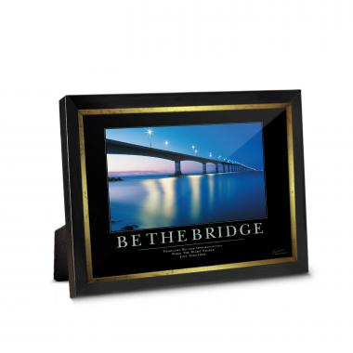 Be The Bridge Framed Desktop Print
