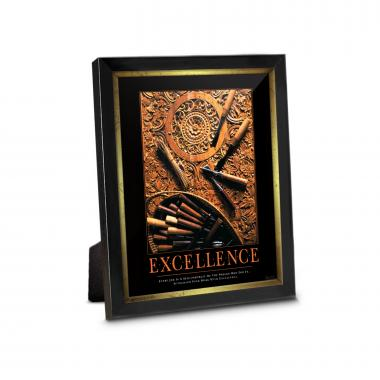Excellence Wood Carving Framed Desktop Print