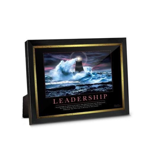 Leadership Lighthouse Framed Desktop Print