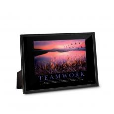 Framed Desktop Prints - Teamwork Cranes Framed Desktop Print