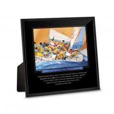 Desktop Prints - Essence of Teamwork Framed Desktop Print