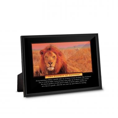 Essence of Survival Framed Desktop Print