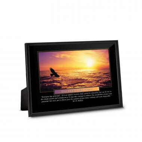 Sky's The Limit Framed Desktop Print