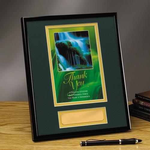 Thank You Waterfall Framed Award