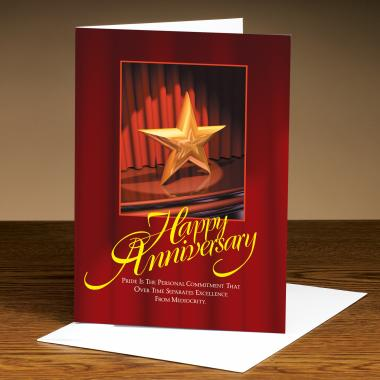 Happy Anniversary Star 25-Pack Greeting Cards