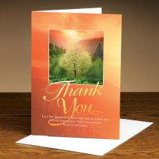 Thank You Cards - Thank You Sunrise Tree 25-Pack Greeting Cards
