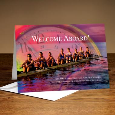 Welcome Aboard Rowing 25-Pack Greeting Cards
