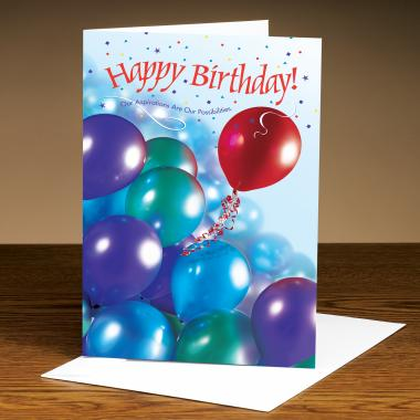 Happy Birthday Balloons 25-Pack Greeting Cards