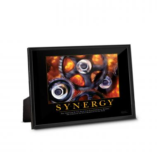 Synergy Gears Framed Desktop Print