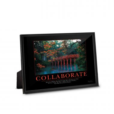 Collaborate Bridge Framed Desktop Print