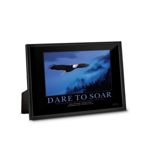 Dare to Soar Eagle Framed Desktop Print