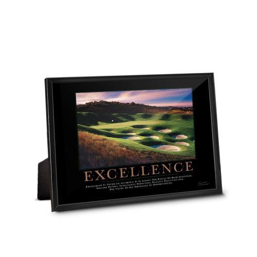 Excellence Golf Framed Desktop Print