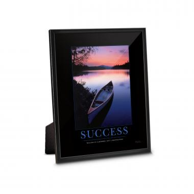 Success Canoe Framed Desktop Print