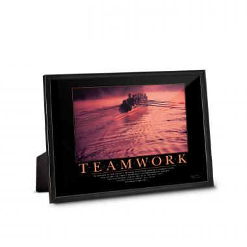 Teamwork Rowers Framed Desktop Print