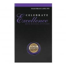 Medallion Lapel Pins - Commitment to Excellence Medallion Lapel Pin