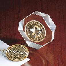 Medallion Holders - Clear Winner Hexagon Medallion Holder