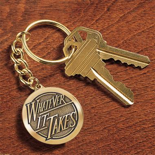 Whatever it Takes Medallion Key Chain