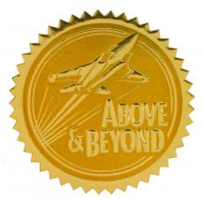 Closeout and Sale Center - Above & Beyond Gold Foil Certificate Seals