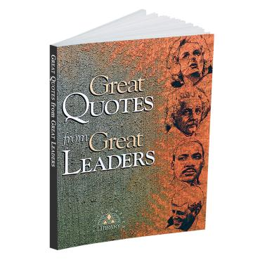 Great Quotes from Great Leaders Quote Book