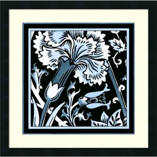 Vision Studio Blue & White Floral Motif I Office Art