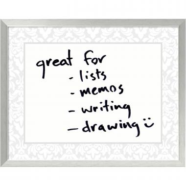 Soft Grey Damask Dry-Erase Board - Medium Office Art