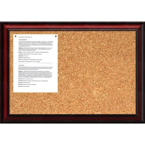 Rubino Cork Board - Medium Office Art