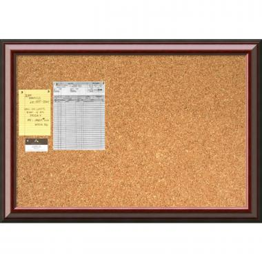 Cambridge Mahogany Cork Board - Large Office Art