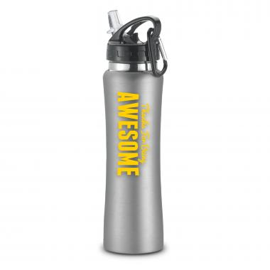Thanks for Being Awesome Flip-Top 26oz Water Bottle