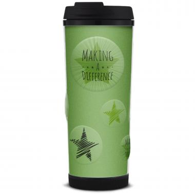 Making a Difference Glitter Travel Tumbler