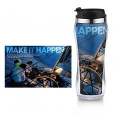 Travel Mugs - Make it Happen Flip Top Travel Mug