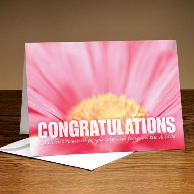 Congratulations Pink Flower 25-Pack Greeting Cards