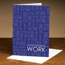Recognition Cards - Outstanding Work Purple 25-Pack Greeting Cards