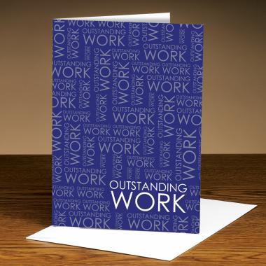 Outstanding Work Purple 25-Pack Greeting Cards