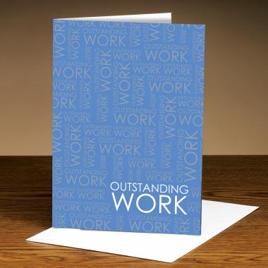 Outstanding Work Blue 25-Pack Greeting Cards