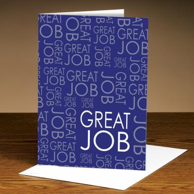 Great Job Purple 25-Pack Greeting Cards