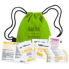 National Safety Month - Making a Difference First Aid Cinch Bag