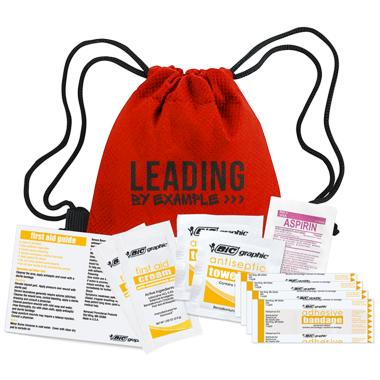 Leading by Example First Aid Cinch Bag