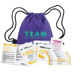 National Safety Month - Teamwork People First Aid Cinch Bag