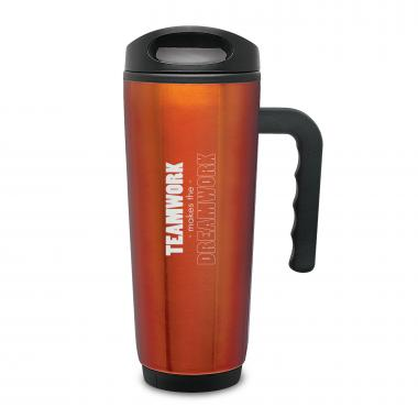 Teamwork Puzzle Travel Mug with Handle