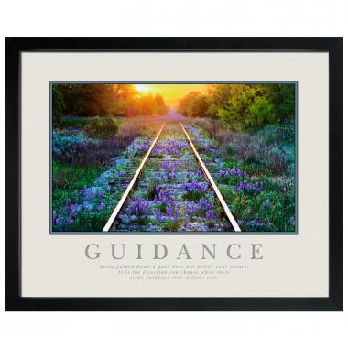 Guidance Railroad Tracks Motivational Poster