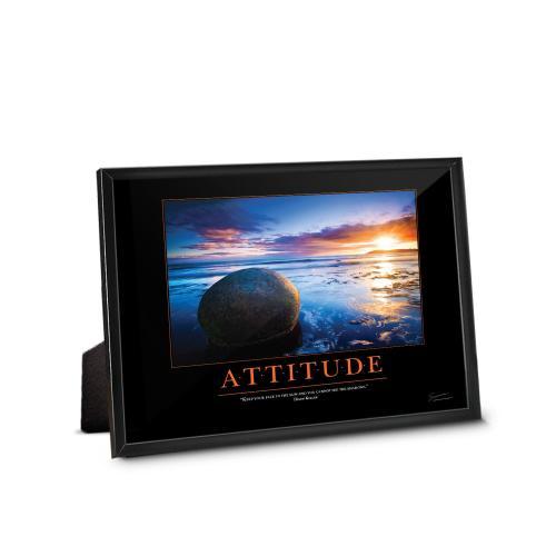Attitude Boulder Framed Desktop Print