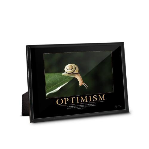 Optimism Snail Framed Desktop Print