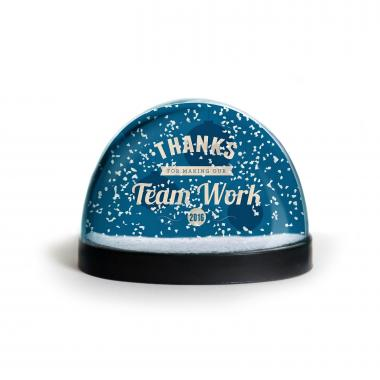 Thanks for Making Our Team Work Snow Globe