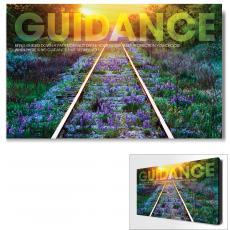 Modern Motivational Art - Guidance Railroad Tracks Motivational Art