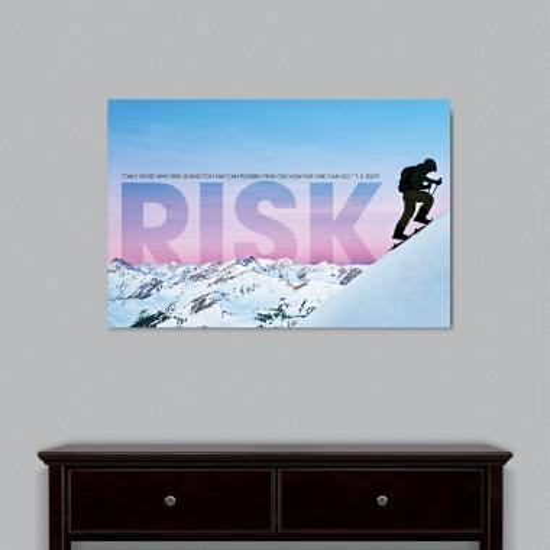 Risk Mountain Climber Motivational Art