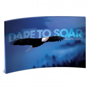 Dare to Soar Curved Desktop Acrylic