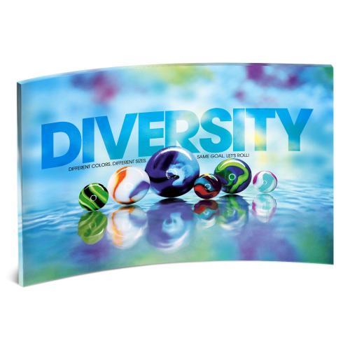 Diversity Marbles Curved Desktop Acrylic