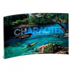 Acrylic Desktop Prints - Character Kayaker Curved Desktop Acrylic